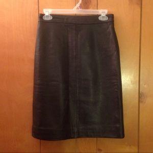Dresses & Skirts - Classic Black Real Leather Mini Skirt - Vintage S